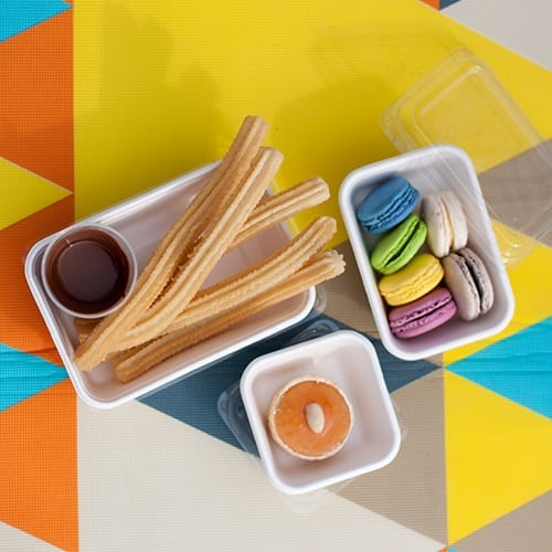 Rectangular containers with lids