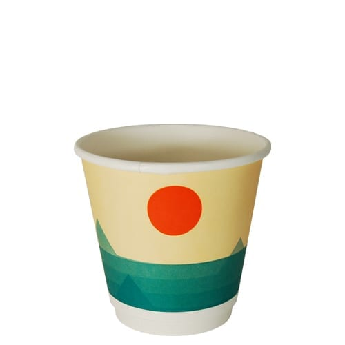 8oz super biodegradable and compostable coffee cup double wall