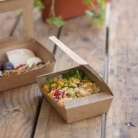 Window Kraft Lunch Box